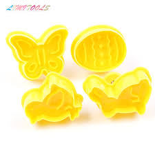 4Pcs/Set Butterfly Rabbit Chick Easter Egg Shape <b>Animal Plastic</b> ...