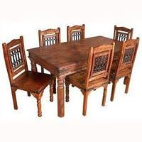 indian wood dining table: wooden dining table set dinning table set  wooden dining table set