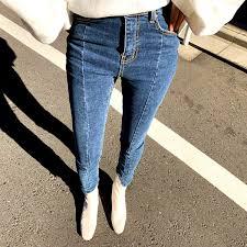 2019 <b>Summer Spring</b> Irregular <b>Stretch Patchwork</b> Denim Jeans ...