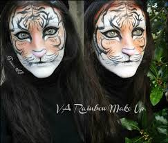 tiger make up face painting