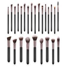 <b>25Pcs</b>/<b>Set</b> Wooden handle Beauty <b>Makeup Brushes</b> Eyebrow ...