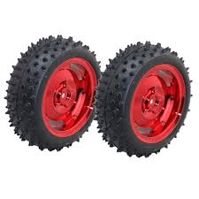 Red 85MM <b>Rubber</b> Car <b>Wheel Tire</b> Intelligent <b>Tracking Robot</b> ...