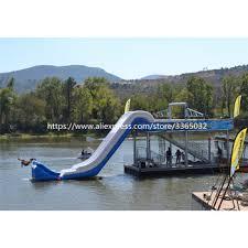 Popular giant inflatable yacht water slide, floating slide | www ...