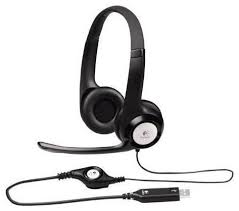 Компьютерная <b>гарнитура Logitech Stereo Headset</b> H390, черный ...