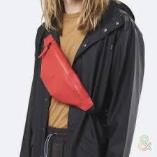 <b>Сумка на пояс</b> Rains Bum Bag mini красная