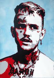<b>Lil</b> Peep by Stefan Leitner (2018) : <b>Painting</b> Spray <b>paint</b> on <b>Canvas</b> ...