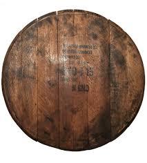 reclaimed jim beam bourbon barrel top lazy susan large authentic jim beam whiskey barrel table