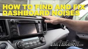 How To Find and Fix <b>Dashboard Noises</b> - YouTube