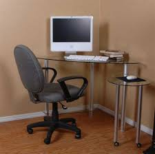 awesome glass corner office desk glass simple computer desk for home ikea with white wooden rectangle awesome home office ideas glass computer