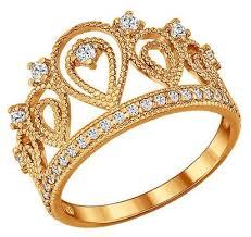 <b>SOKOLOV Позолоченное кольцо</b> «<b>Корона</b>» 93010365 — купить ...