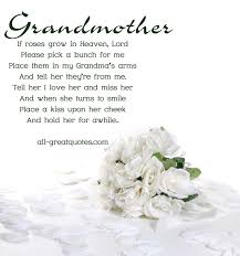 In Loving Memory Cards For Grandmother - If Roses Grow In Heaven Lord via Relatably.com