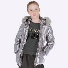 <b>Куртка для девочки</b> Серебристый - <b>Майорал</b>