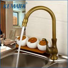 Купить KEMAIDI Kitchen Taps Cozinha Faucet Antique Brass Swivel ...