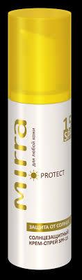 Линии продуктов MIRRA <b>Солнцезащитный крем</b>-спрей <b>SPF 15</b>
