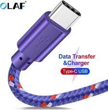 <b>OLAF</b> USB <b>Type C</b> Cable <b>Nylon</b> Braided 1M 2M 3M Data Sync Fast ...