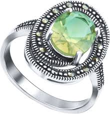 Серебряное кольцо <b>Silver Wings</b> 210026-297-<b>39</b> с искусственным ...
