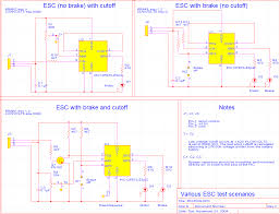 12f675 based brushed motor esc testrig gif rev c circuit diagrams for various test configurations
