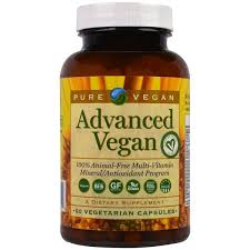 Pure Vegan, <b>Advanced Vegan</b>, <b>60 Vegetarian</b> Capsules | Shopee ...
