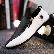 2019 New Leather <b>Men's Dress Shoes Handmade</b> Office Business ...