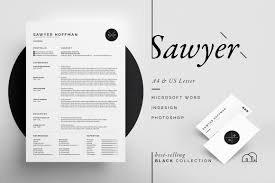 resume templates creative market resume cv sawyer