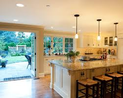 breakfast bar in awesome traditional kitchen ideas design awesome pendant lighting sloped ceiling