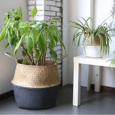 Handmade Bamboo <b>Storage Baskets Foldable</b> Laundry Straw ...