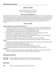 resume examples skills in resume skills examples