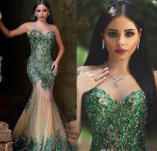 2016 <b>Hot Sexy</b> Dark Emerald Green Sequined Mermaid Evening ...