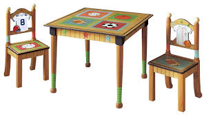 little sports fan kids table and chair set transitional game room and bar furniture sports bar