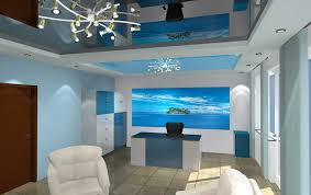three dimensional project plasterboard ceilings stretch ceilings and art printed stretch wall with led ceiling designs for office