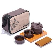 Portable Travel Kungfu Zisha Tea Set, Handmade ... - Amazon.com