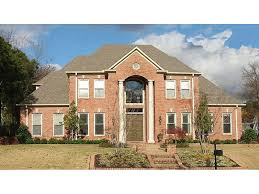 Glanmorgan Luxury Home Plan S    House Plans and MoreTraditional Luxury Brick Two Story House With Grand Porch Pillars