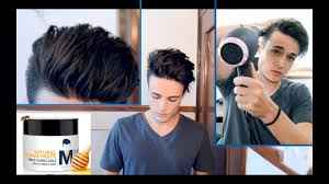 Messy Pompadour - Mens Hair Tutorial & Hairstyle - YouTube