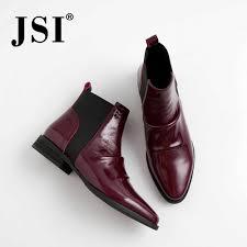 <b>JSI</b> Fashion Genuine Leather Ladies <b>Boots</b> Spring Autumn Pointed ...