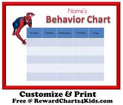 behavior charts spiderman