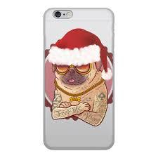 """Чехол для iPhone 6, объёмная печать """"<b>Новогодний</b> Мопс ..."""