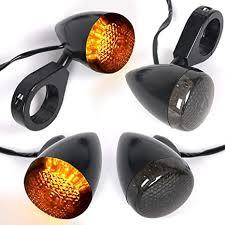 4x Motorcycle LED Turn Signal Lights 12V Smoke ... - Amazon.com