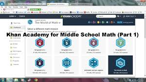 the khan academy for middle school math khan academy for middle school math part 1