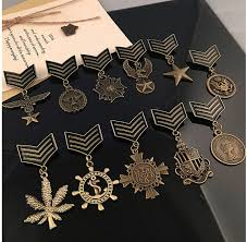 2019 Love Five Star Eagle Military <b>Metal Badge</b> New Arrive Retro ...