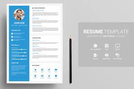 material design resume templates for the perfect first    resume template in material look