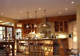 awesome traditional kitchen lighting ideas with natural lighting at morning and brown decoration best kitchen lighting ideas