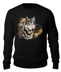 Свитшот унисекс хлопковый <b>Printio</b> Одинокий волк. Зорго-АРТ ...
