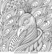 Small Picture 109 best Peacocks Art Coloring images on Pinterest Coloring