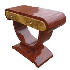 contemporary art deco style rosewood and burl console table art deco era furniture