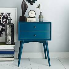 view in gallery mid century modern style nightstand blue furniture