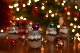 holiday party favors using baby food jars and or nts