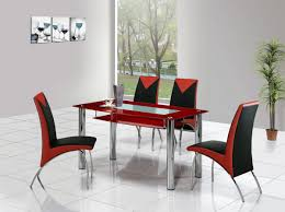 Red Dining Room Sets Red Color Glass Dining Table Set Nice Awesome Classic Elegant