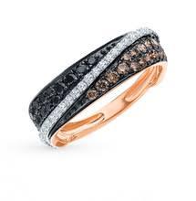 <b>Золотое кольцо с бриллиантами</b> SUNLIGHT проба 585 - купить ...