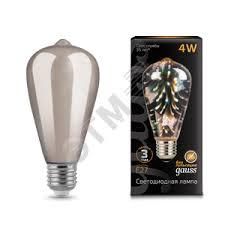 <b>Лампа</b> светодиодная LED 4Вт E27 <b>3D</b>-<b>Butterfly Gauss</b> (<b>147802404</b> ...