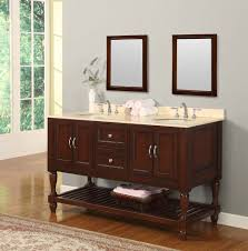 bathroom quot mission linen:  quot mission style double bathroom vanity sink console with white